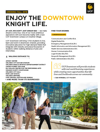 UCF Downtown Brochure