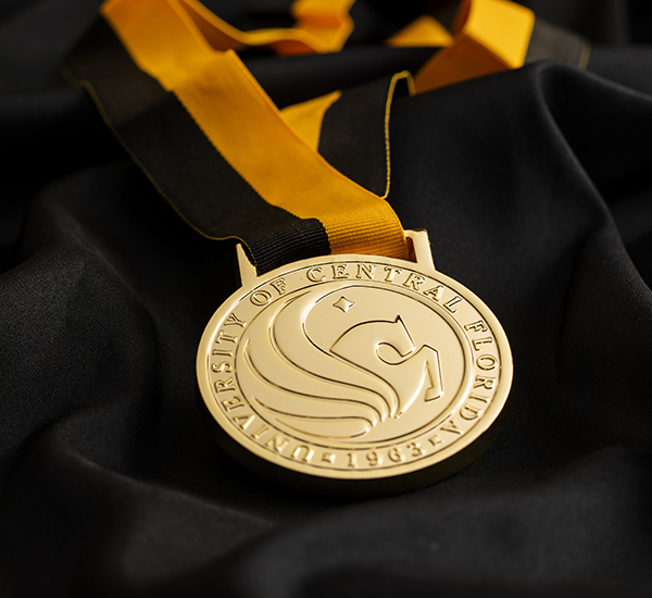 UCF National Merit Medal with Black and Gold Ribbon