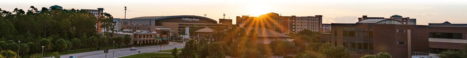 Aerial photo of UCF's campus