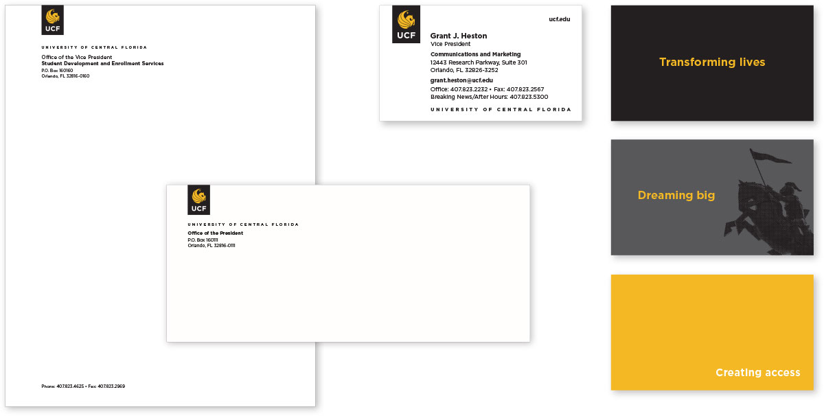 Stationery and Business Cards - UCF Brand Guide