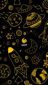 UCF Space Doodles mobile wallpaper