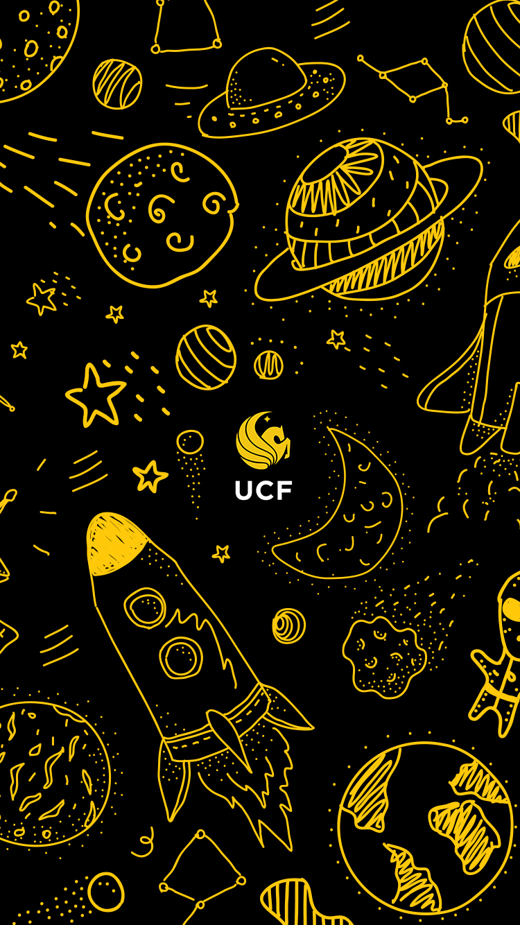 UCF Space Doodles Mobile Wallpaper Download
