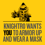Knightro wants you to Armor Up photo