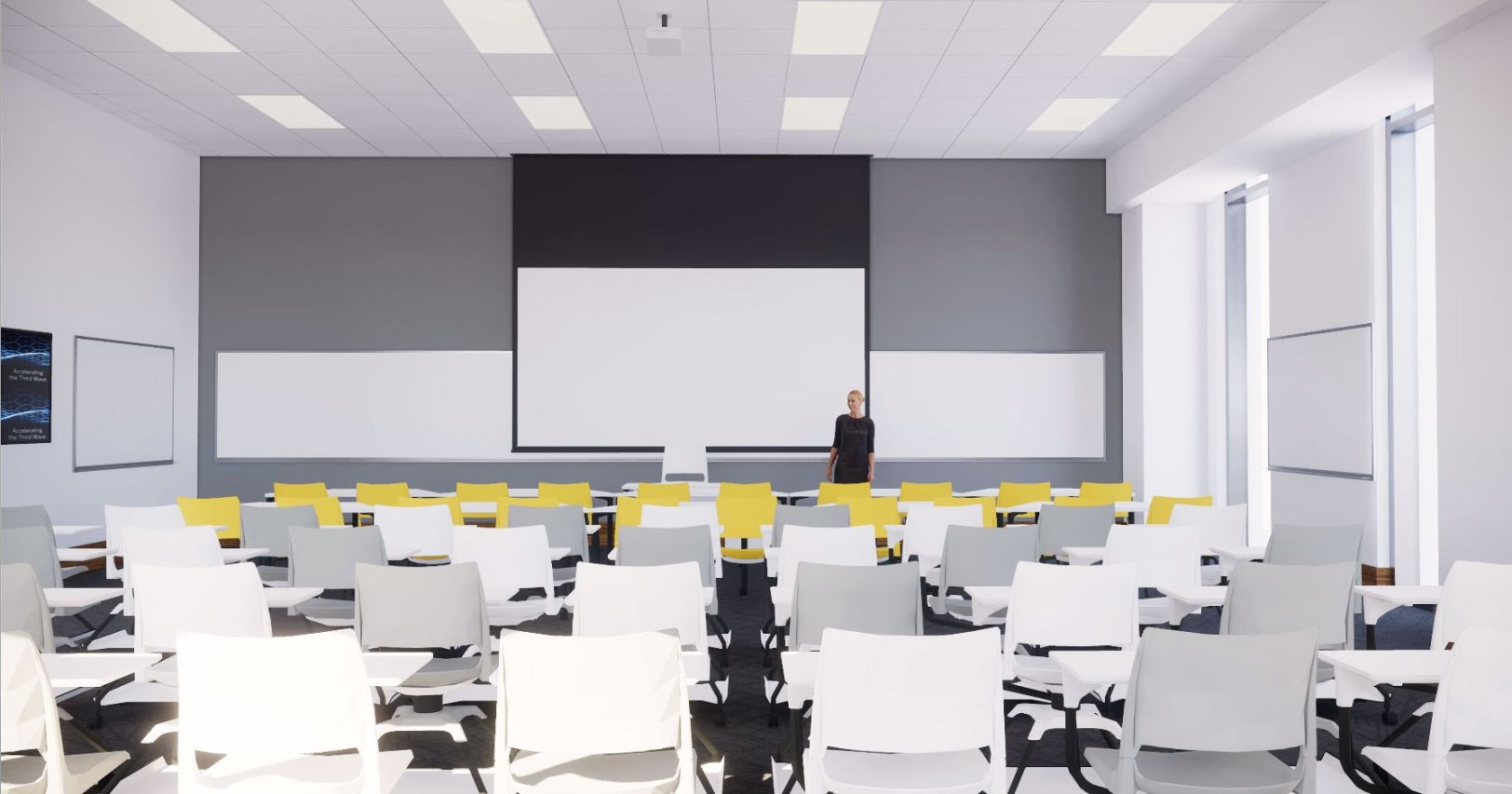All rooms are designed the same way so that everyone has a consistent experience across the entire campus.
