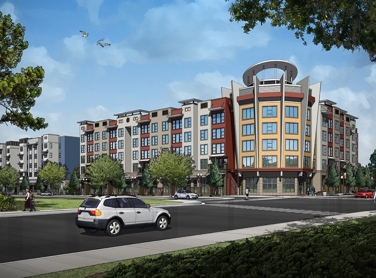 amelia court rendering for ucf downtown employee housing