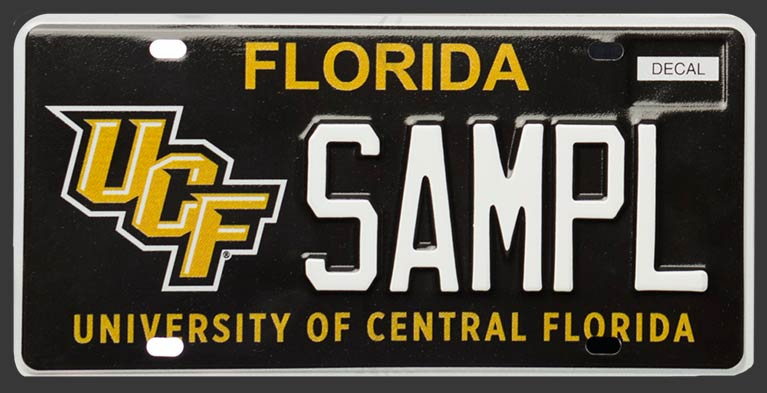 New UCF License Plate