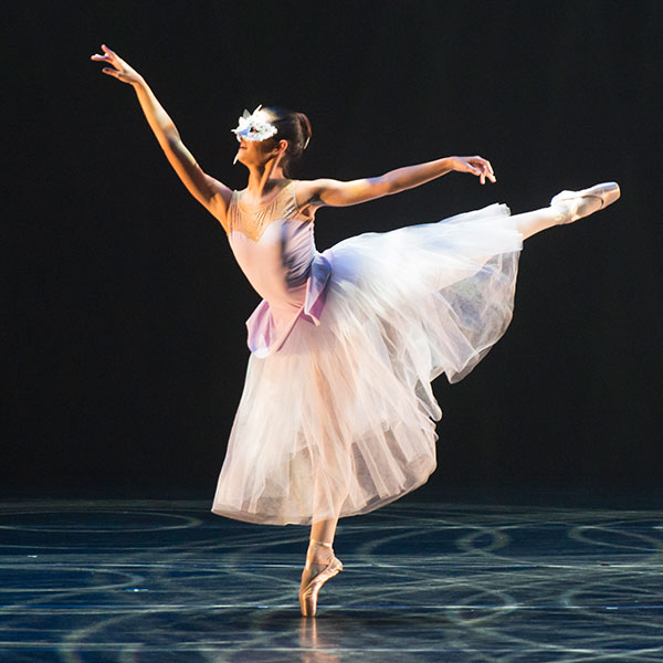 ballerina performing on ucf stage