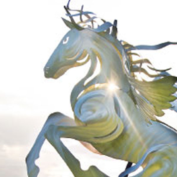 ucf burnett honors college horse statue