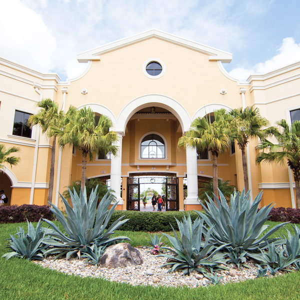 exterior photo of ucf's rosen college of hospitality management