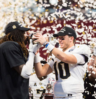 UCF Football - Knights defeated Auburn in the Peach Bowl 34-27