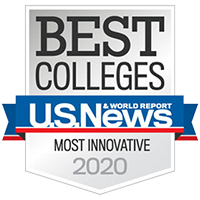 U.S. News & World Report Most Innovative Colleges 2020 badge
