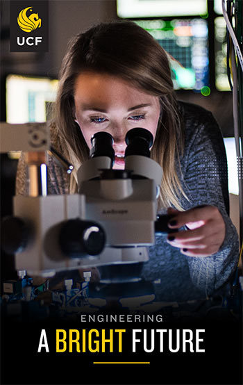 Click to get more information about graduate degrees in Optical Science and Photonics at UCF.
