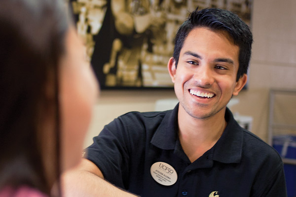 Smiling employee at UCF