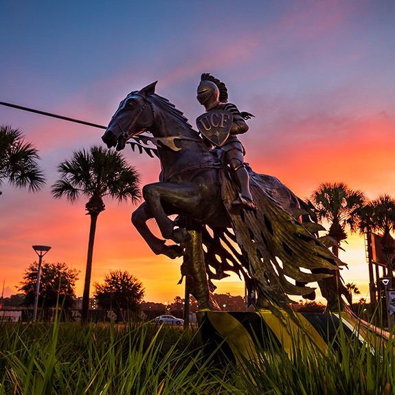 Charging Knight Statue