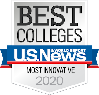 us news best colleges most innovative ucf 2020 badge