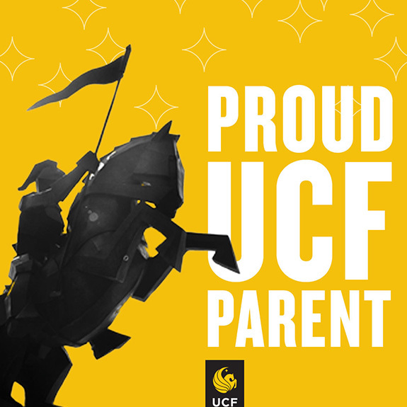 Proud UCF Parent - Knight Statue