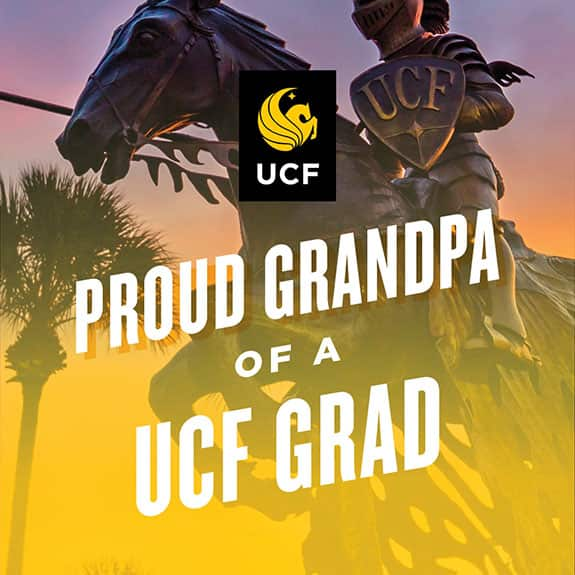 proud grandpa of a ucf grad - Statue