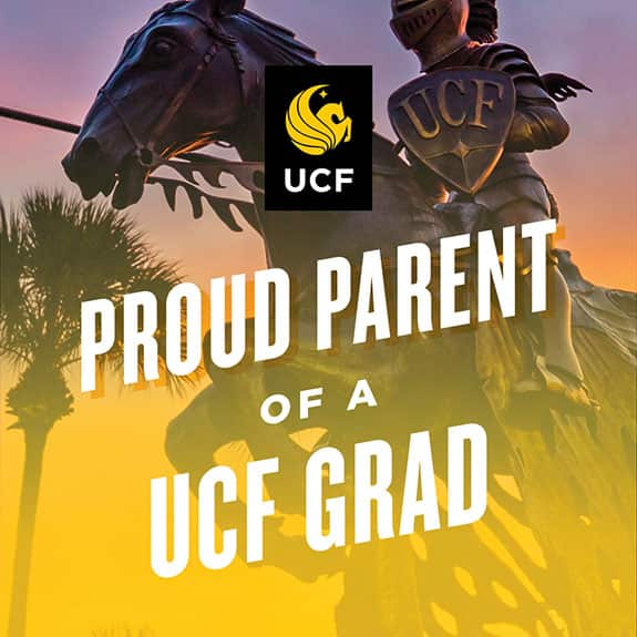 Proud UCF parent - statue