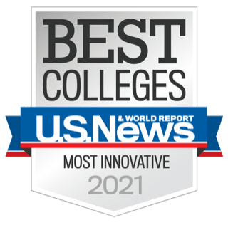 ucf best colleges most innovative 2021 badge from us news