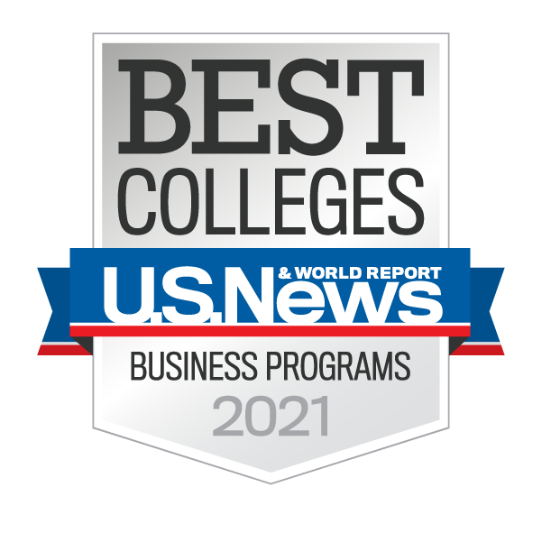 U.S. News & World Report Best Business Programs badge