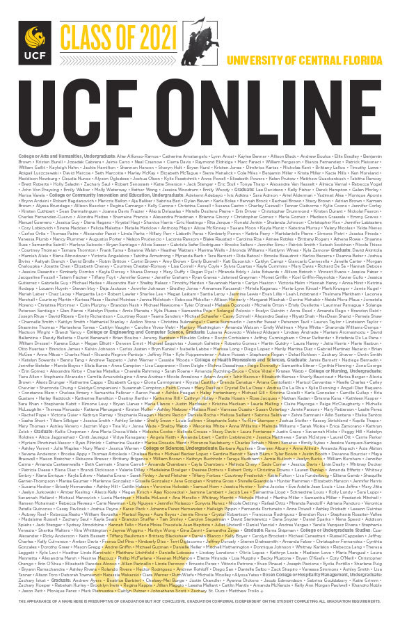 ucf online class of 2020 poster