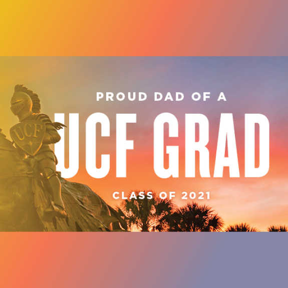 Knight Statue Proud Dad of a UCF Grad Facebook Cover