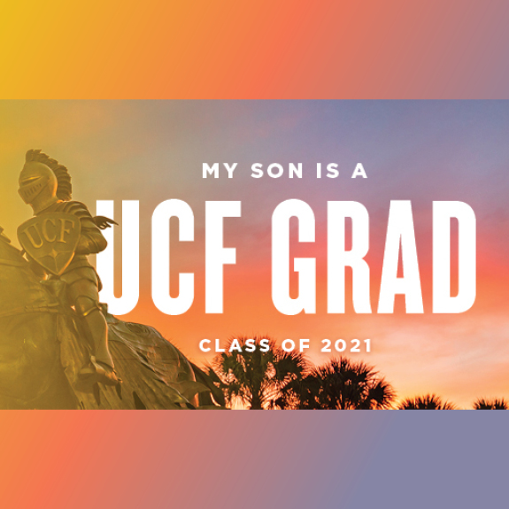 Knight Statue My Son is a UCF Grad Facebook Cover