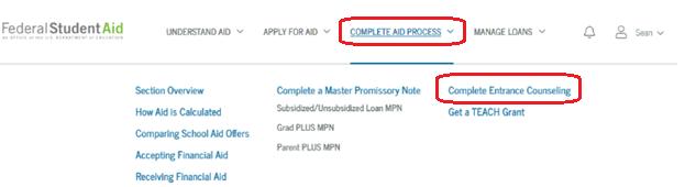 Loan Entrance Counseling - Begin Here