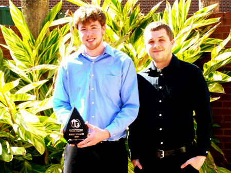Corey McCall and Branden Maynes, winners of the inaugural Inventing Entrepreneurs Innovation Competition.