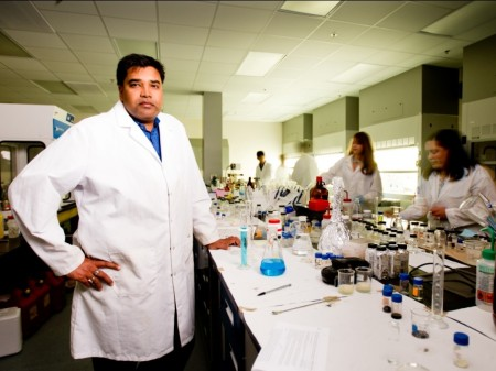 Professor Sudipta Seal works in his lab at the University of Central Florida.
