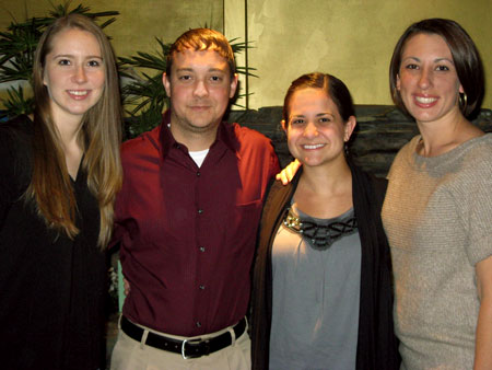 From left to right: Sara Hill, James (Jimmy) Lee III, Alexandra (Alex) Gentry and Nicole Lombardi Braham.