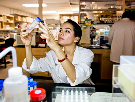 Boehme, an honors student, has studied stem cells and bacterial toxins at UCF's research labs.