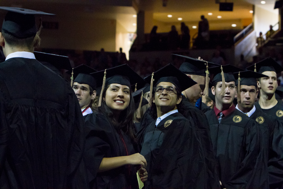 Students and faculty at the 2011 summer graduation ceremony.