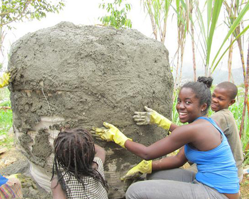Maya Basquin and 15 other students from UCF Engineers Without Borders this summer finalized construction on a clean water catchment system for the villagers of Mare Brignole, Haiti.