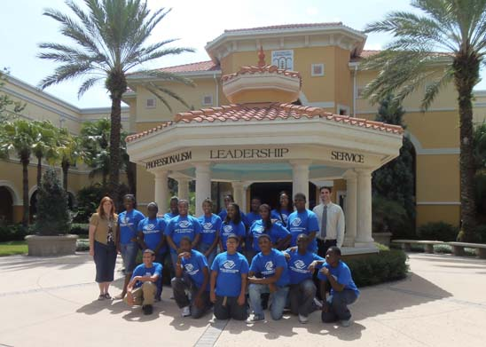 Boys and Girls Club Visits Rosen College