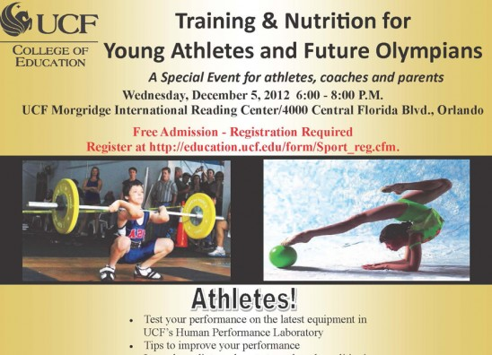 UCF to Hold Free Nutrition and Training Forum Wednesday