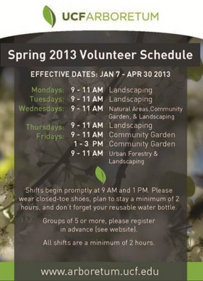 Arboretum Seeks Volunteers for Spring Projects