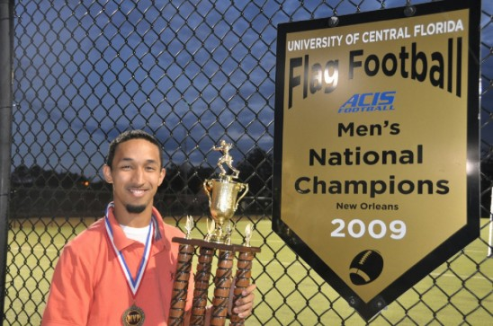 Intramural Flag Football Player Inducted into National Hall of Fame