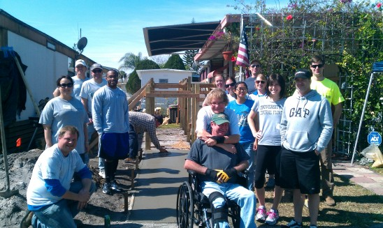 UCF Alumni Build Ramp to Independence for Military Veteran