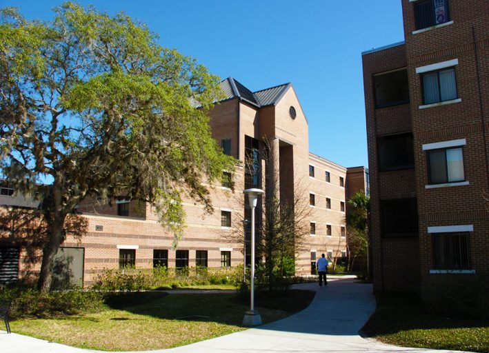 UCF campus housing includes 57 residence buildings, 13 communities and 7,579 beds.