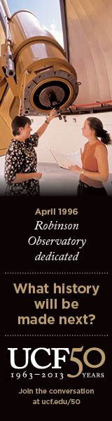 UCF 50: April 1996, Robinson Observatory dedicated
