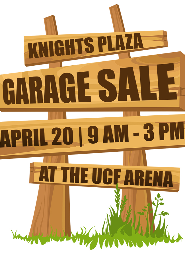 Save The Date Ucf To Hold First Knights Plaza Garage Sale