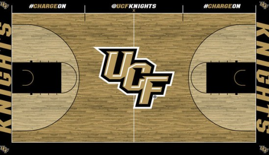 Basketball New Court Design For New Season Ucf News