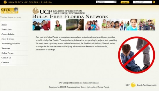 UCF Launches Statewide Anti-Bullying Network