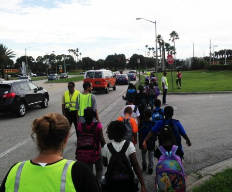 'Walking School Bus' Makes Trips to School Safer, Healthier