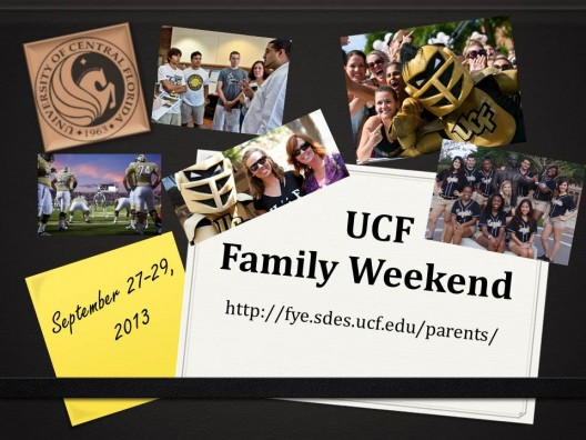 Family Weekend is Sept. 27-29