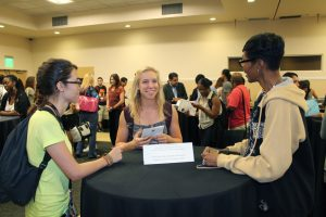 Students had the opportunity to talk to mentors at the reception.