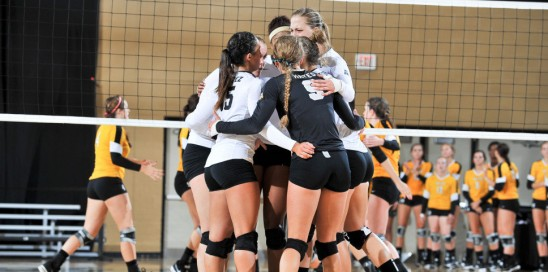 Volleyball: First Road Win in The American
