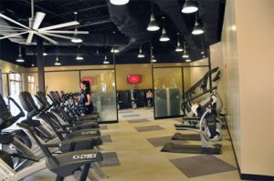 RWC @ Knights Plaza offers students and staff 5,700 square feet of workout space including two cardio areas and a free weight area.