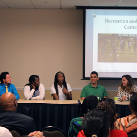 The  International Student Panel discuss why UCF was their choice for higher education.